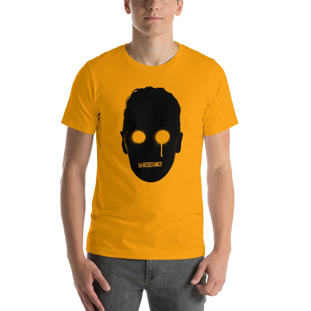 t-shirts Synthwave, 80s, Retrowave and Vaporwave LaResistance color gold