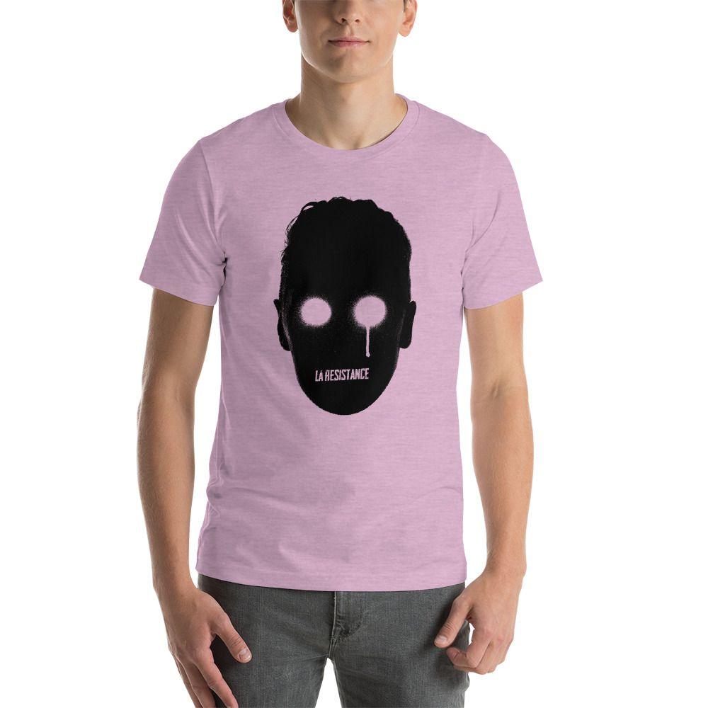 t-shirts Synthwave, 80s, Retrowave and Vaporwave LaResistance color heather prism lilac