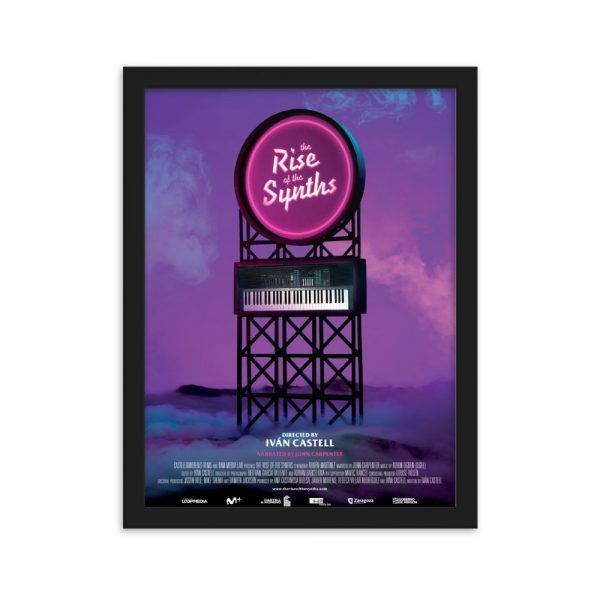 Framed Poster The Rise of the Synths Synthwave, vaporwave, 80s, retrowave, pop
