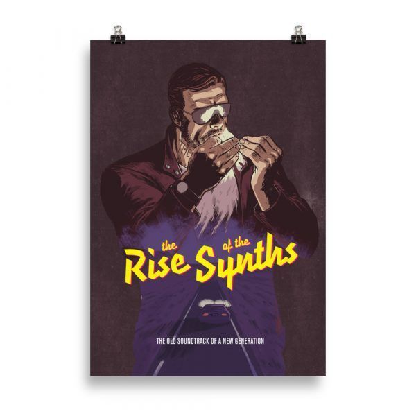 Poster Synth Rider The rise of the synths Synthwave, vaporwave, 80s, retrowave, pop