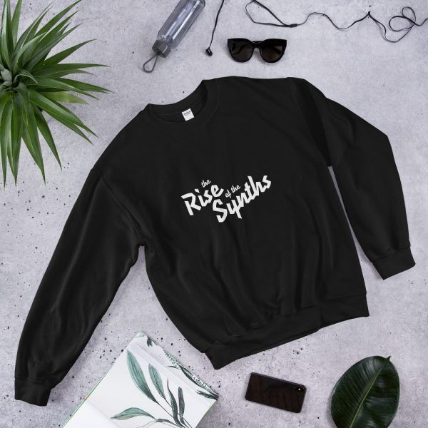Sweatshirt Synth Rider aesthetic retro design Synthwave, 80s, Retrowave and Vaporwave LaResistance color black