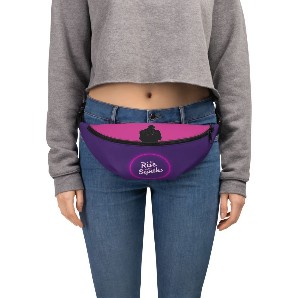 Unique Waist Bag Fanny Pack for Women and Men Synthesizers Black