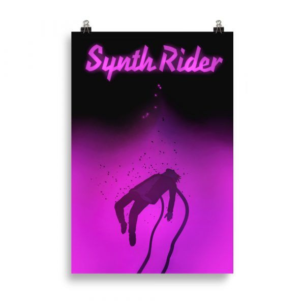 Synthrider NEON poster The Rise of the Synths Synthwave